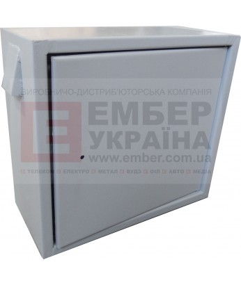 Антивандальный бокс БК-550-з-2 3U 1.5 мм, петли