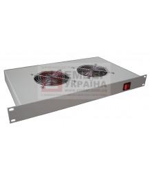 Полка вентиляторная с термостатом (2 вентилятора), ПВ-2Т